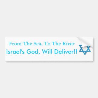 サポートイスラエル共和国! 海から川への! バンパーステッカー