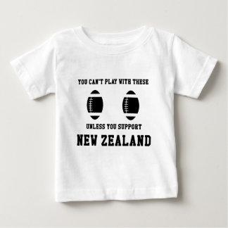 サポートニュージーランドのラグビーのTシャツ ベビーTシャツ
