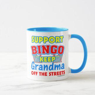 サポートビンゴの祖母 マグカップ