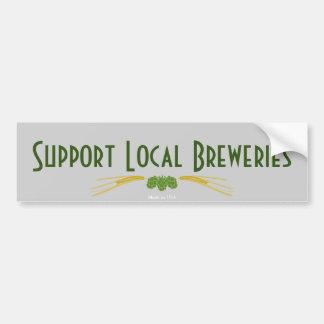 サポートローカルビール醸造所のバンパーステッカー バンパーステッカー