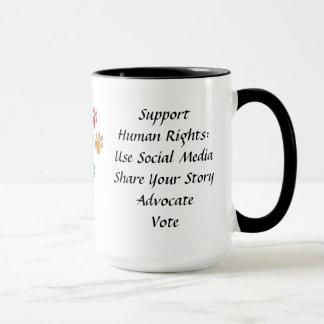 サポート人権のマグ マグカップ