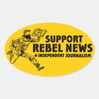 サポート反逆のニュースのステッカー 楕円形シール