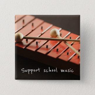 サポート学校音楽木琴ボタン 缶バッジ