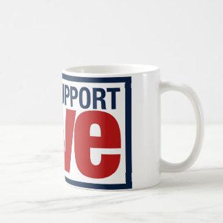 サポート愛(赤い/青) コーヒーマグカップ