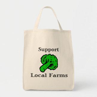 サポート支部はブロッコリーの食料雑貨のトートバックを耕作します トートバッグ