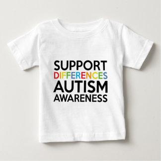 サポート相違の自閉症の認識度 ベビーTシャツ