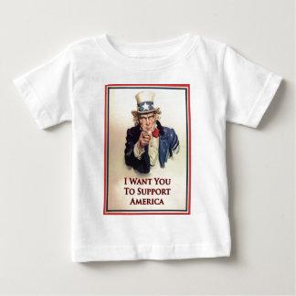 サポート米国市民ポスター ベビーTシャツ