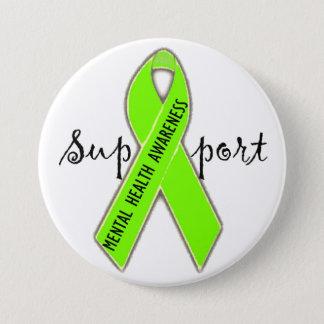 サポート精神衛生意識のDivaLimeボタン 缶バッジ