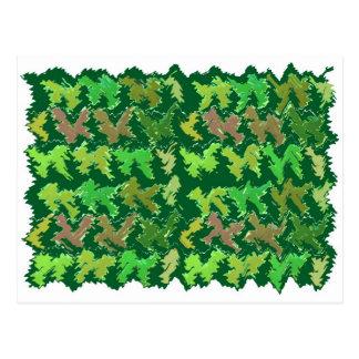 サポート緑- Navin著深いジャングルの芸術 ポストカード