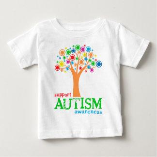 サポート自閉症の認識度 ベビーTシャツ