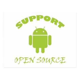 サポート開いた源のロボット ポストカード