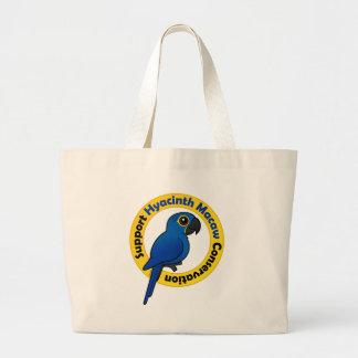 サポートHyacinthのコンゴウインコの保存 ラージトートバッグ