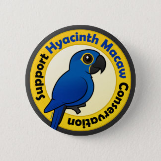 サポートHyacinthのコンゴウインコの保存 5.7cm 丸型バッジ
