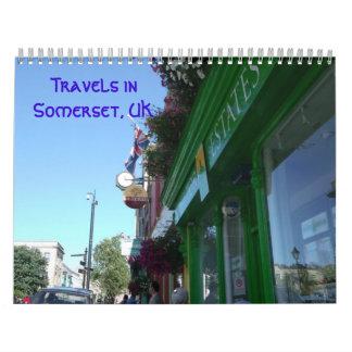 サマセット州、イギリス2013のの旅行カレンダー カレンダー