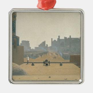 サマルカンド、早朝1869-70年のメイン・ストリート メタルオーナメント