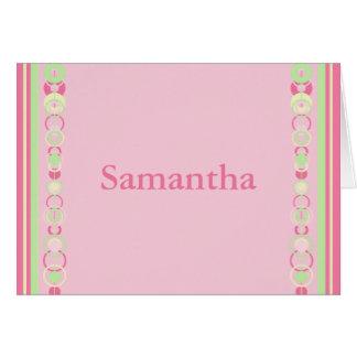 サマンサのモダンは名刺を一周します カード