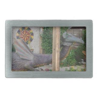 サマンサの写真ドラゴン 長方形ベルトバックル