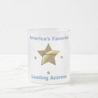 サマンサ: アメリカのお気に入りのな主演者 フロストグラスマグカップ