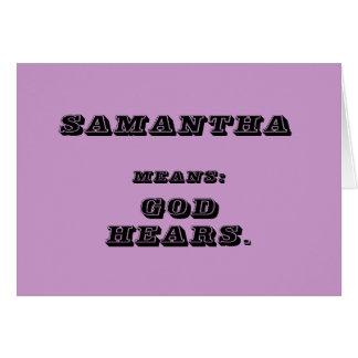 サマンサ カード