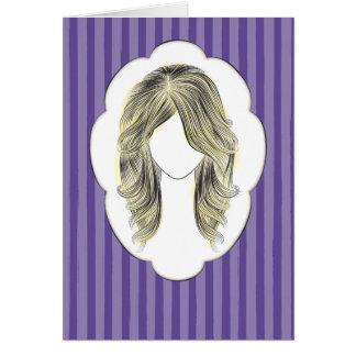 サマンサ-女性のポートレート カード