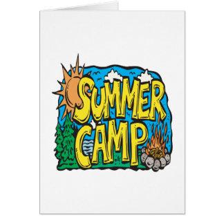 サマーキャンプ グリーティングカード