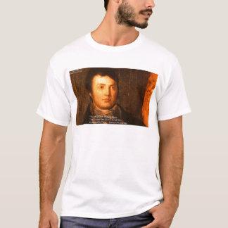 """サミュエルCooleridgeの""""アイディア""""の知恵の引用文のギフト Tシャツ"""