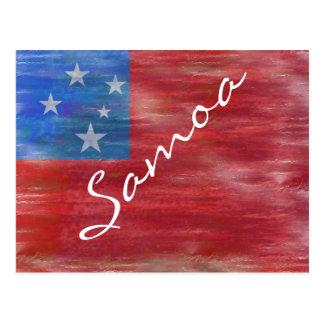 サモアの動揺してなSamoan旗 ポストカード