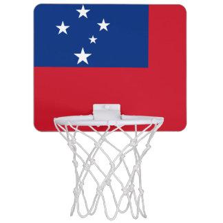 サモアの小型バスケットボールのゴールの旗 ミニバスケットボールゴール