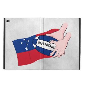 サモアの旗のラグビーのボールのパス POWIS iPad AIR 2 ケース