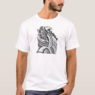 サモアの種族の島のデザイン Tシャツ