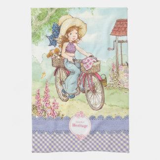 """サラケイの""""バイクの乗車""""の台所タオル キッチンタオル"""