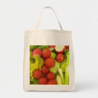 サラダ野菜のオーガニックな食料雑貨のトートバック トートバッグ