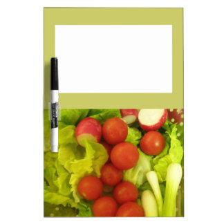 サラダ野菜のメモ板 ホワイトボード