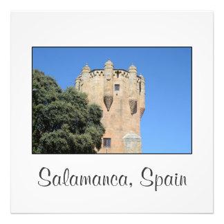 サラマンカ、スペイン。 Tower del Clavero フォトプリント