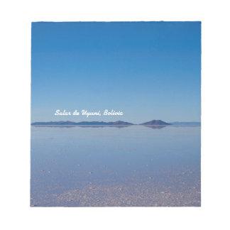 サラール族de Uyuni、ボリビアの塩湖 ノートパッド