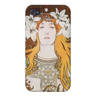 サラ・ベルナールのミュシャ iPhone 4/4S ケース