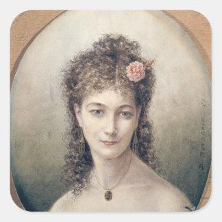 サラ・ベルナール1869年 スクエアシール