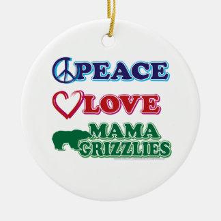サラ・ペイリン氏かGrizzlies平和愛ママ セラミックオーナメント