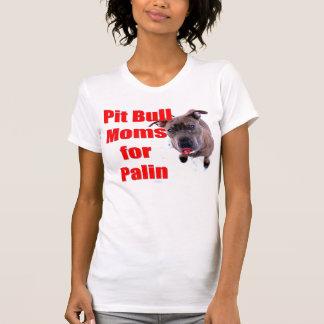 サラ・ペイリン氏のためのピットブルのお母さん Tシャツ