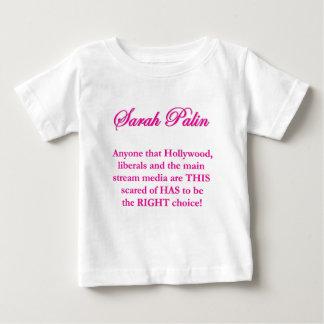 サラ・ペイリン氏-ハリウッドの自由主義者及びMSM ベビーTシャツ