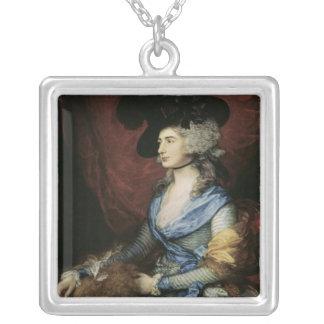 サラSiddons、女優1785年夫人 シルバープレートネックレス