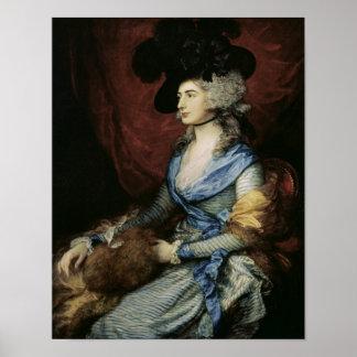 サラSiddons、女優1785年夫人 ポスター