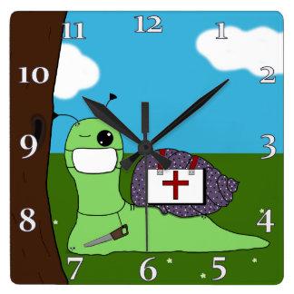 サリバン木の医者 スクエア壁時計