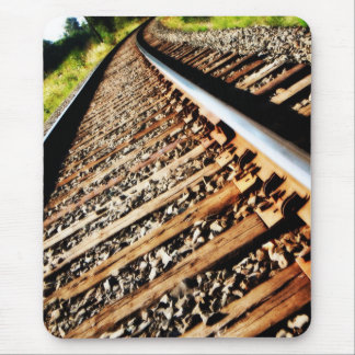 サリバン-鉄道線路--を引きました マウスパッド