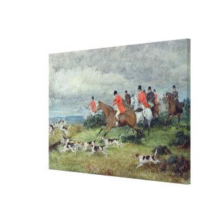 サリー州のキツネ狩り、19世紀 キャンバスプリント