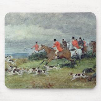 サリー州のキツネ狩り、19世紀 マウスパッド