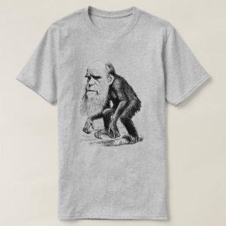 サルとしてチャールズ・ダーウィン Tシャツ