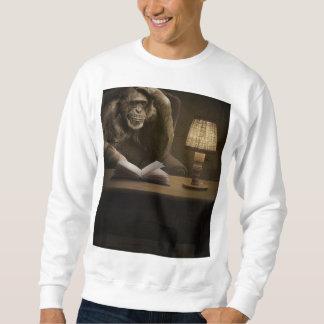 サルのチンパンジー猿 スウェットシャツ