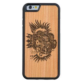 サルの王 CarvedチェリーiPhone 6バンパーケース