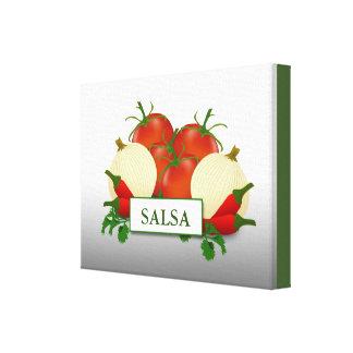 サルサの台所食糧芸術 キャンバスプリント